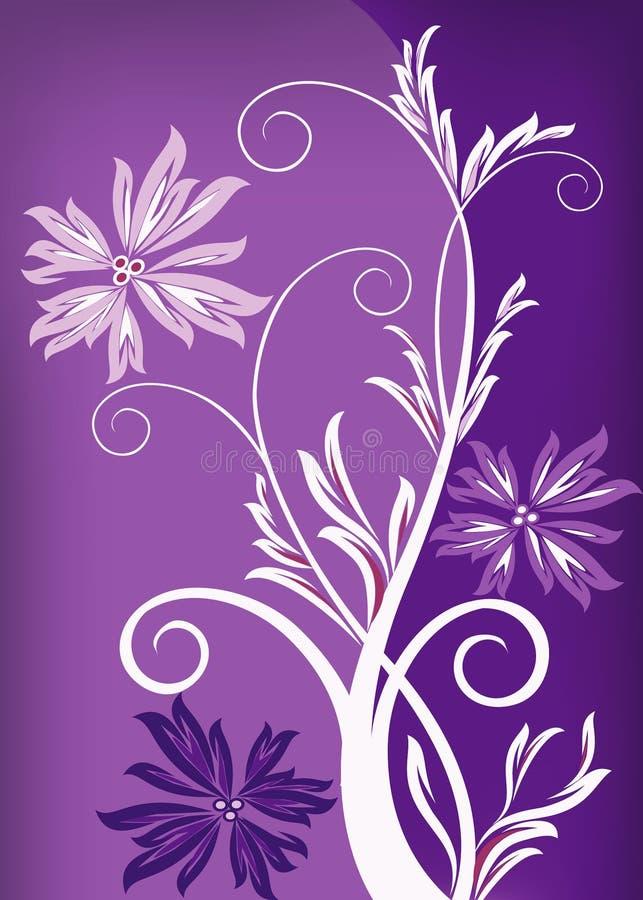 Fond floral pourpré photographie stock libre de droits