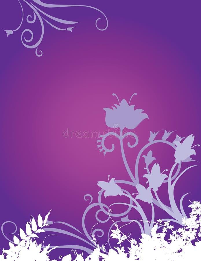 Fond floral pourpré illustration de vecteur