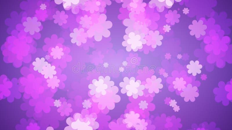Fond floral pourpre mou Fleurs étendant sur le gradient pourpre illustration libre de droits
