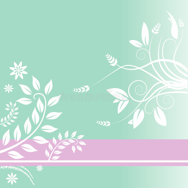 Fond floral rayé illustration stock