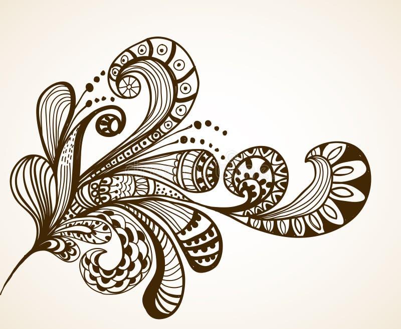 Fond floral romantique illustration de vecteur