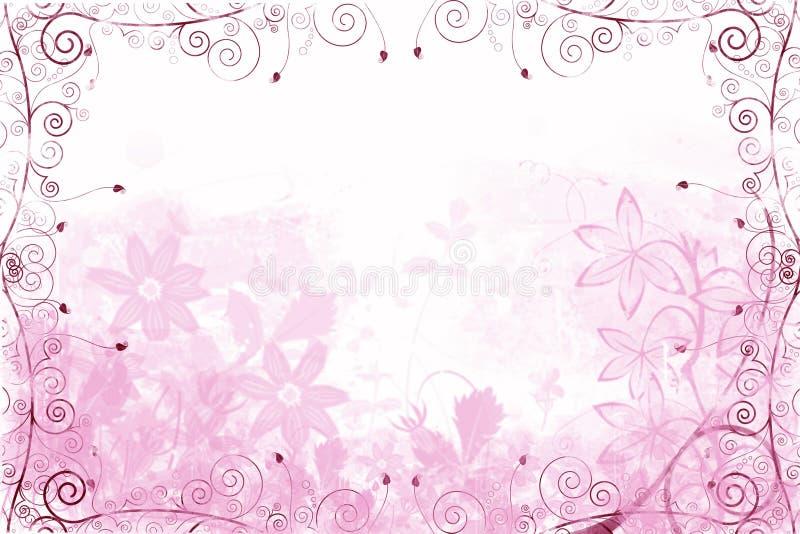 Fond floral rose illustration de vecteur