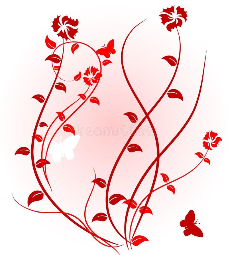 Fond floral rose. illustration stock