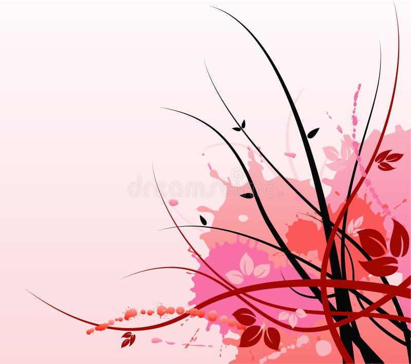 Fond floral rose d'art illustration de vecteur