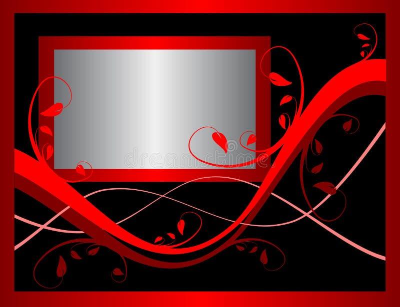 Fond floral rouge formel illustration de vecteur