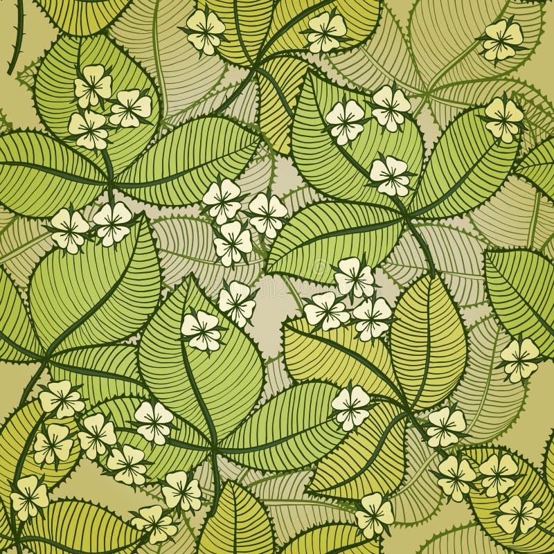 Fond floral sans couture avec la mûre de floraison illustration de vecteur