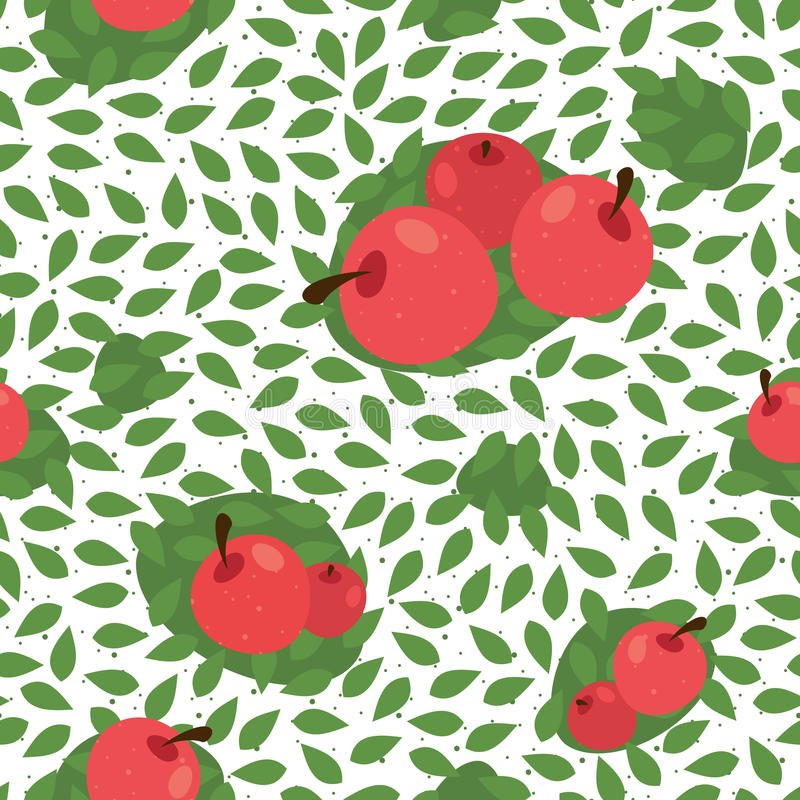 Fond floral sans couture de modèle avec des fruits illustration de vecteur
