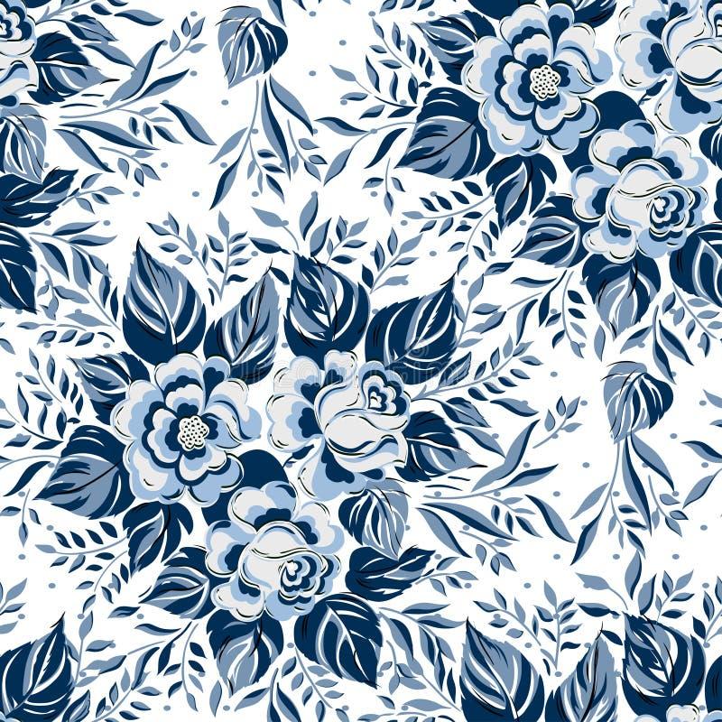 Fond floral sans couture de modèle de beau vintage Bouquets de fleur des roses illustration libre de droits
