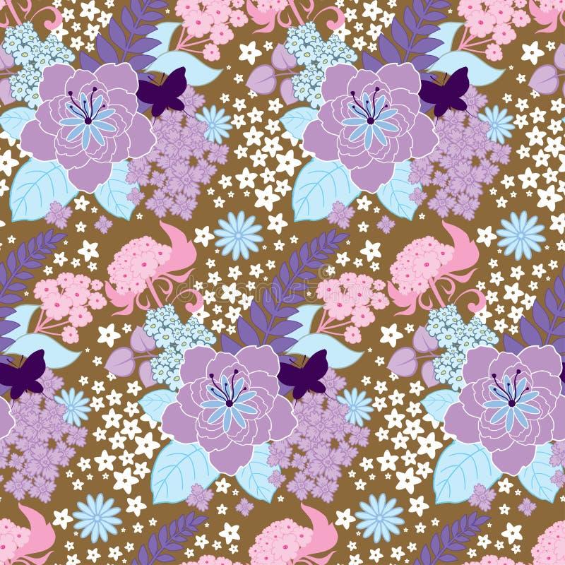Fond floral sans joint illustration de vecteur