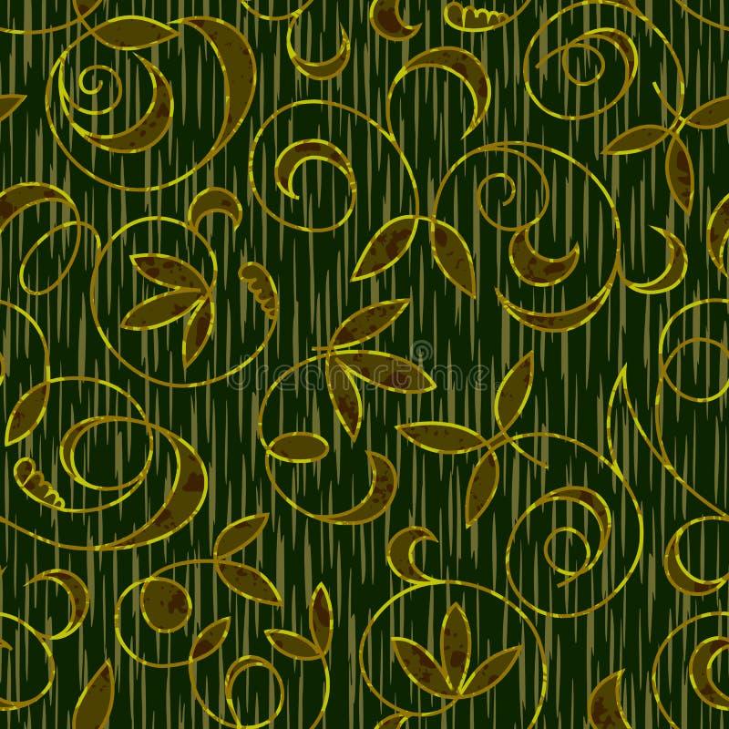 Fond floral sans joint de configuration de damassé illustration de vecteur
