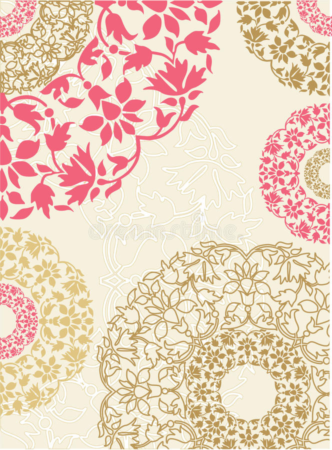 Fond floral sans joint. Illustration de vecteur. photos libres de droits