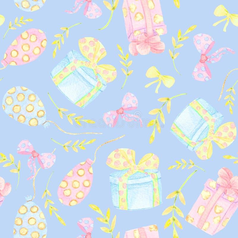 Fond floral sans joint Modèle ethnique de contexte de tissu de nature faite main de filigrane avec les fleurs foncées saturées illustration stock