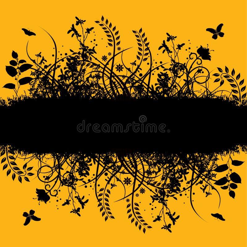 Fond floral symétrique   illustration libre de droits