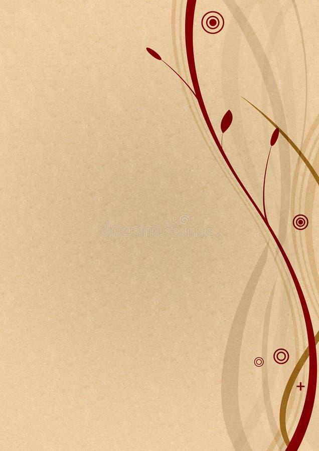 Fond floral texturisé illustration libre de droits