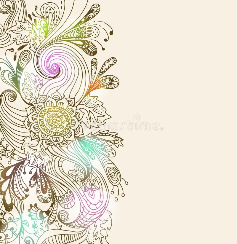 Fond floral tiré par la main romantique illustration libre de droits