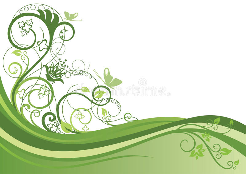 Fond floral vert illustration de vecteur