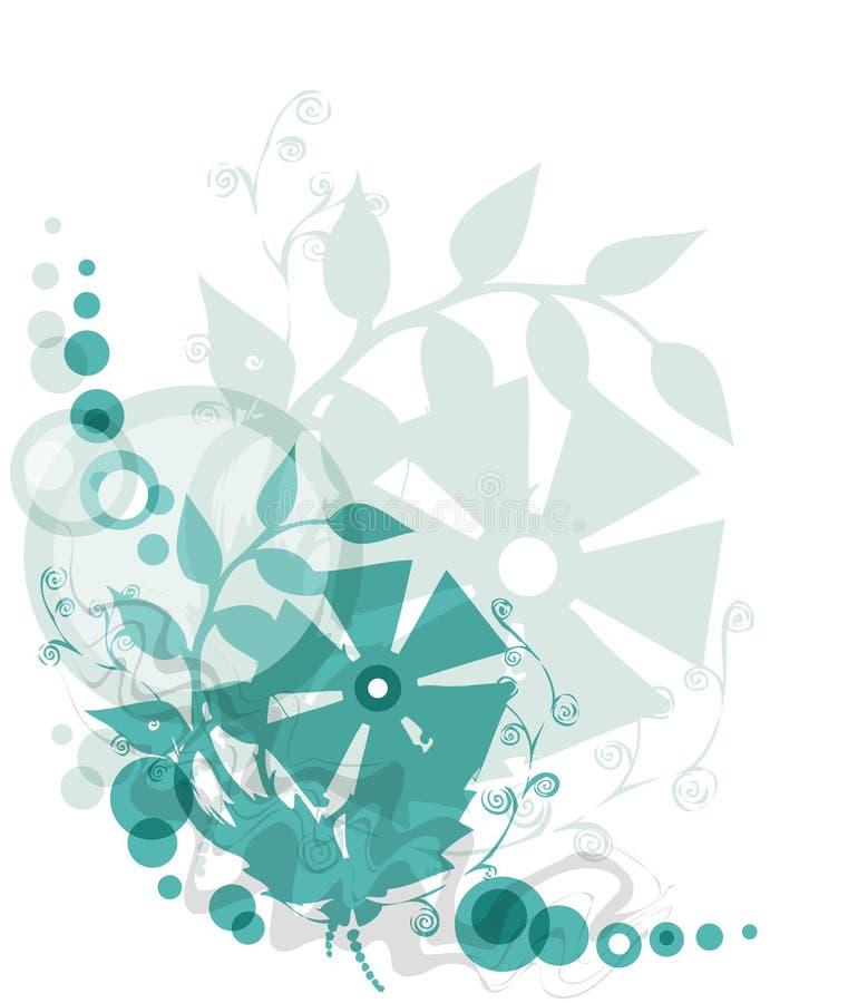 Fond floral vert illustration de vecteur