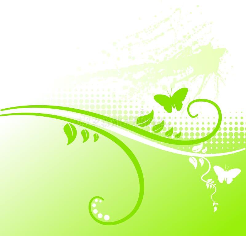 Fond floral vert. illustration stock