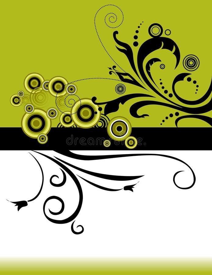 Fond floral vert illustration stock