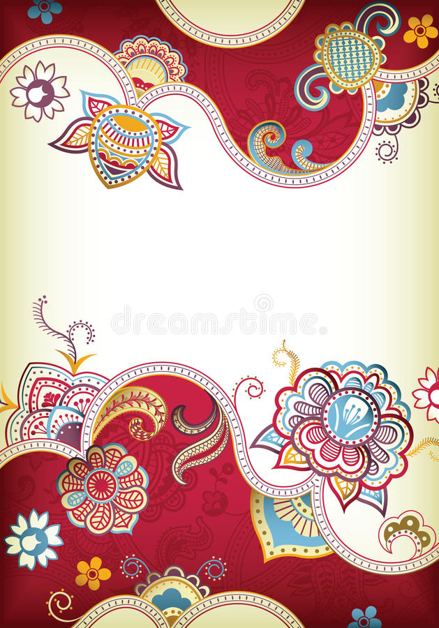 Fond floral Wedding illustration stock