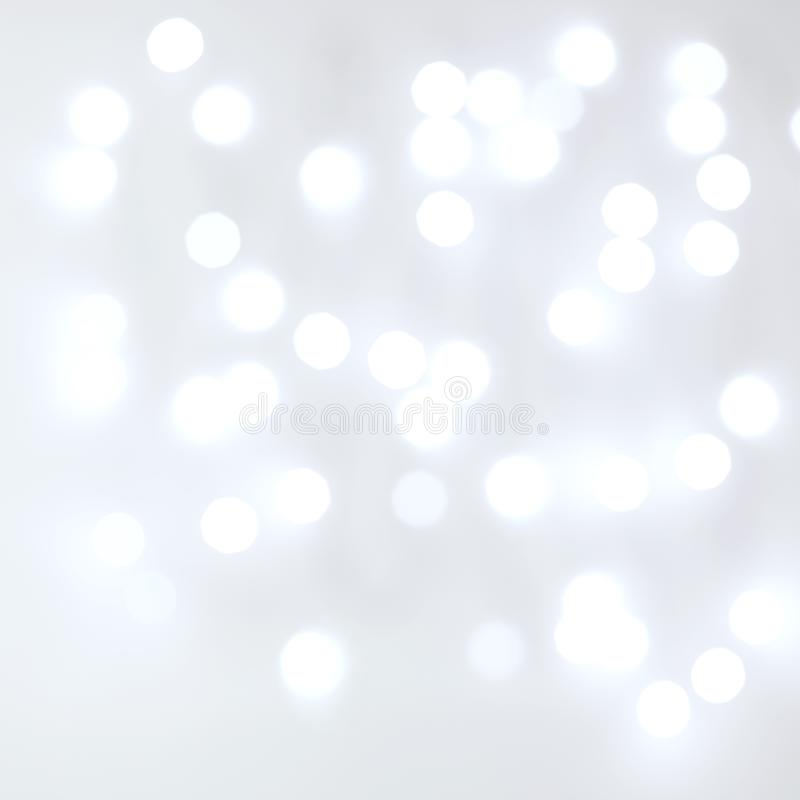 Fond flou brouillé de blanc de lumières blanches photos libres de droits