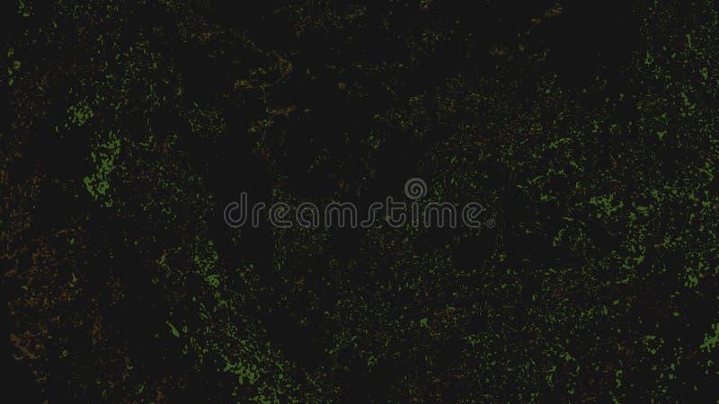 Fond fluorescent abstrait noir avec les lumières et le bruit de scintillement verts image libre de droits