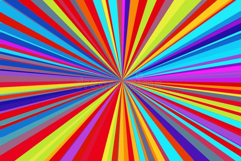 Fond fluorescent d'hallucinogène de couleurs surréalistes Thème abstrait d'illusion effet psychédélique Effet de lsd illustration de vecteur