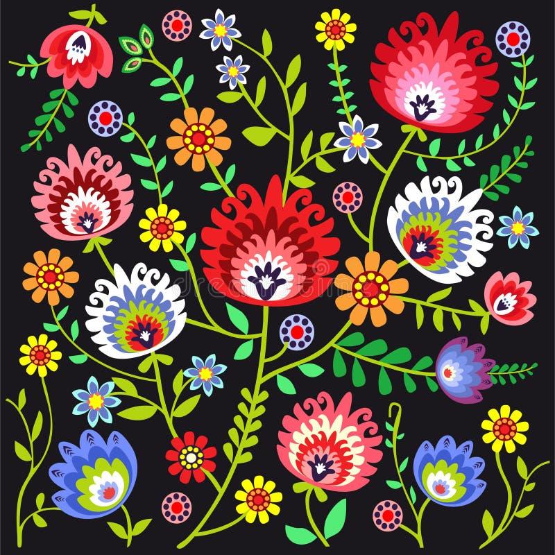 Fond folklorique polonais illustration stock