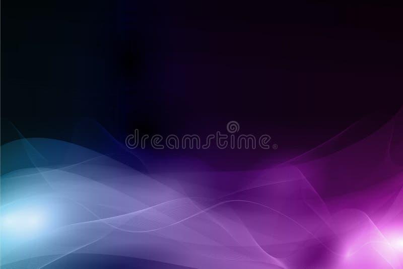 Fond foncé abstrait avec le profil onduleux mou illustration stock