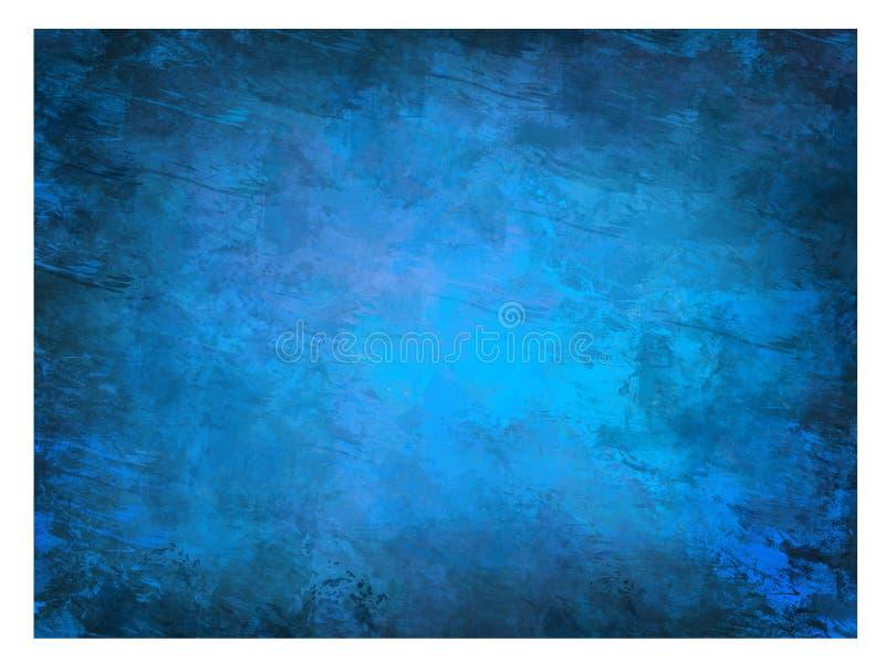 Fond foncé bleu grunge illustration de vecteur