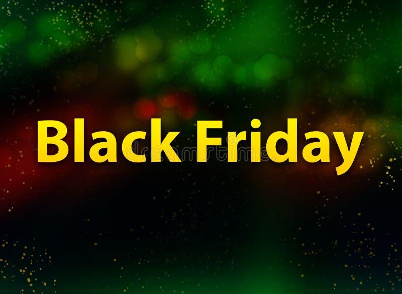 Fond foncé de bokeh d'abrégé sur Black Friday illustration libre de droits
