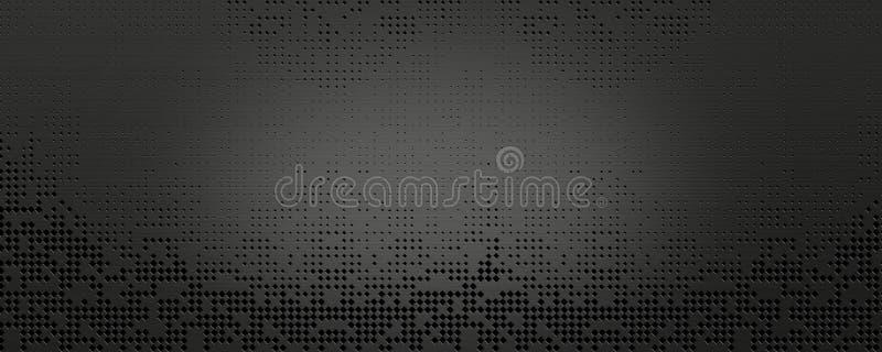 Fond foncé de grille en métal illustration stock