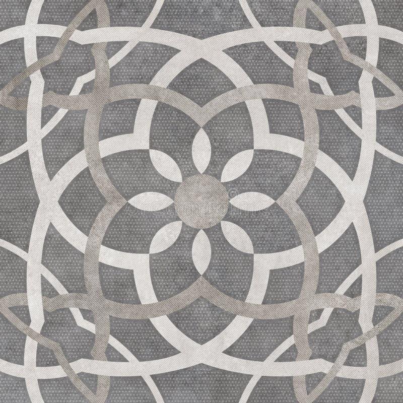 Fond foncé de modèle d'arabesque, conception numérique de carrelage image stock