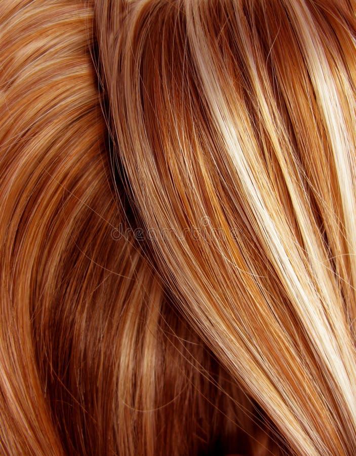 Fond foncé de texture de cheveu de point culminant image stock