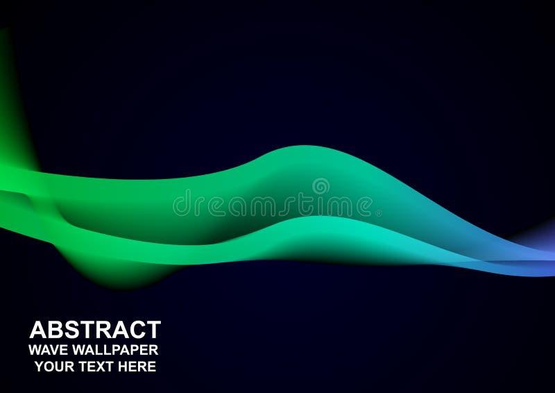 Fond foncé de vague vert-bleu abstraite illustration libre de droits