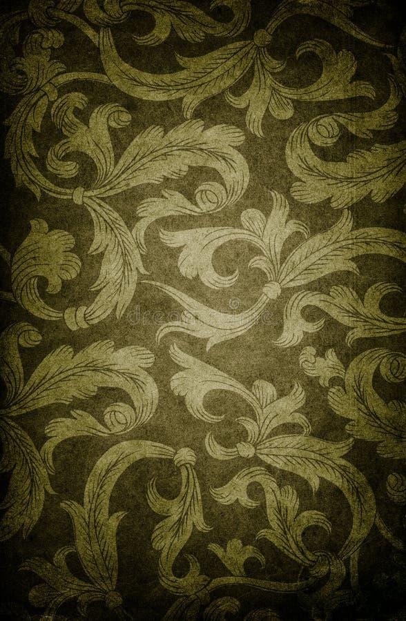 Fond foncé floral de cru. illustration stock