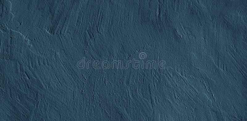 Fond foncé grunge abstrait de stuc de bleu marine image libre de droits