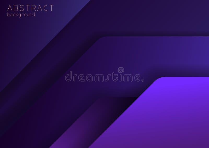 Fond foncé pourpre et violet abstrait avec l'effet de chevauchement illustration de vecteur