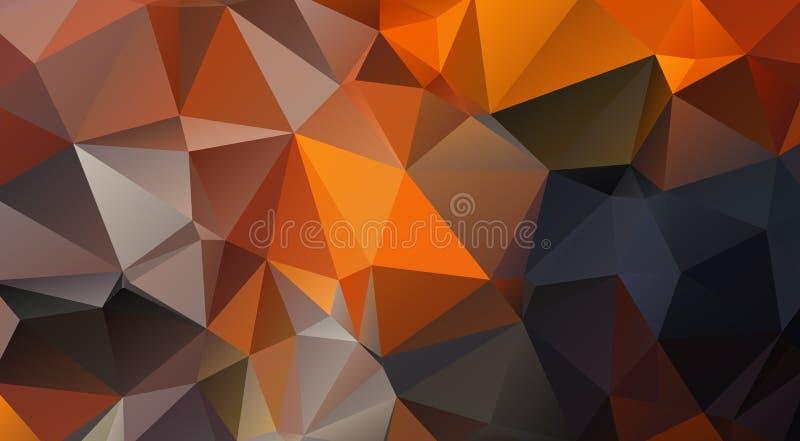 Fond formé par triangle Contrasty illustration de vecteur