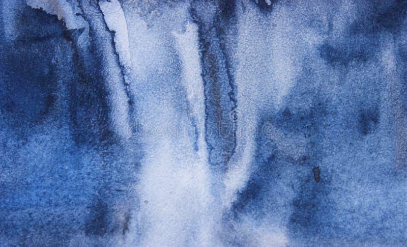 Fond frais contemporain de résumé sur une surface de texture dans des tons bleus Seul fond illustration stock