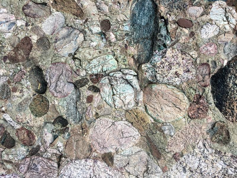 Fond frais de texture de roche avec différentes couleurs photo stock