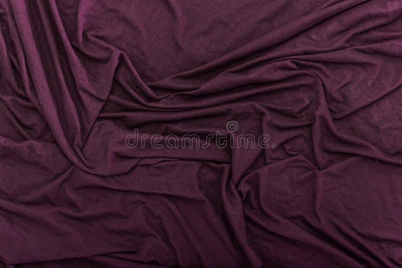 Fond froissé de texture de tissu de velours images libres de droits