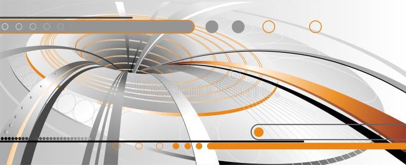 Fond futuriste abstrait illustration libre de droits