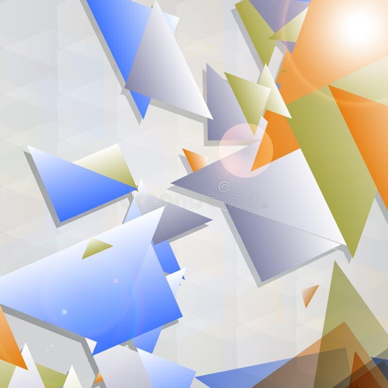 Fond futuriste abstrait avec le shap géométrique illustration de vecteur
