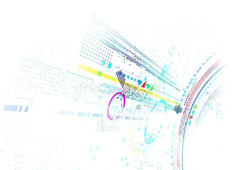 Fond futuriste abstrait d'affaires photo libre de droits