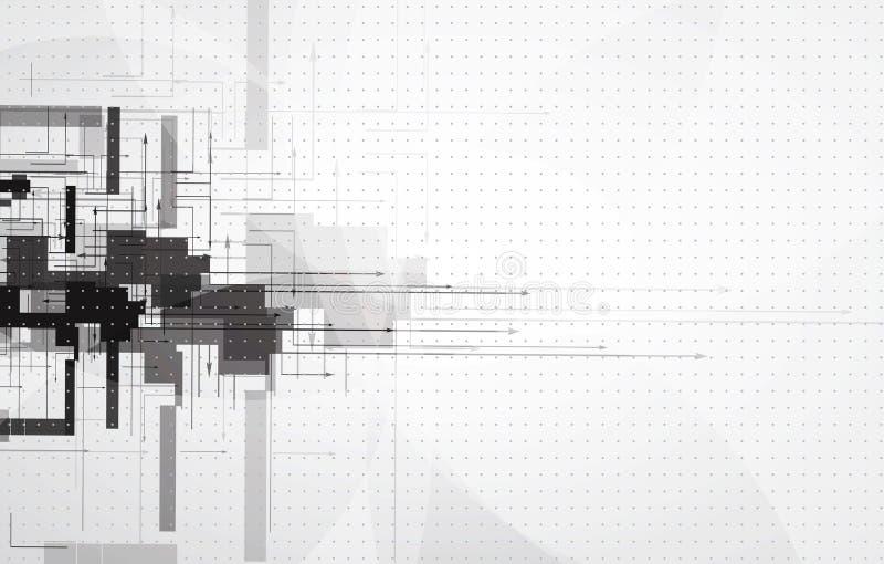 Fond futuriste abstrait d'affaires d'informatique illustration de vecteur
