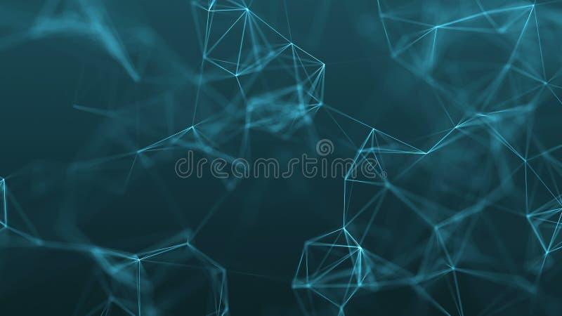 fond futuriste abstrait de la technologie 4k avec des lignes et des points photo stock