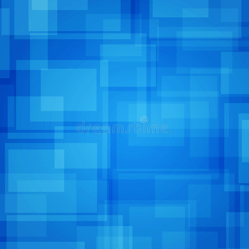 Fond futuriste abstrait. Rectangles bleus illustration libre de droits