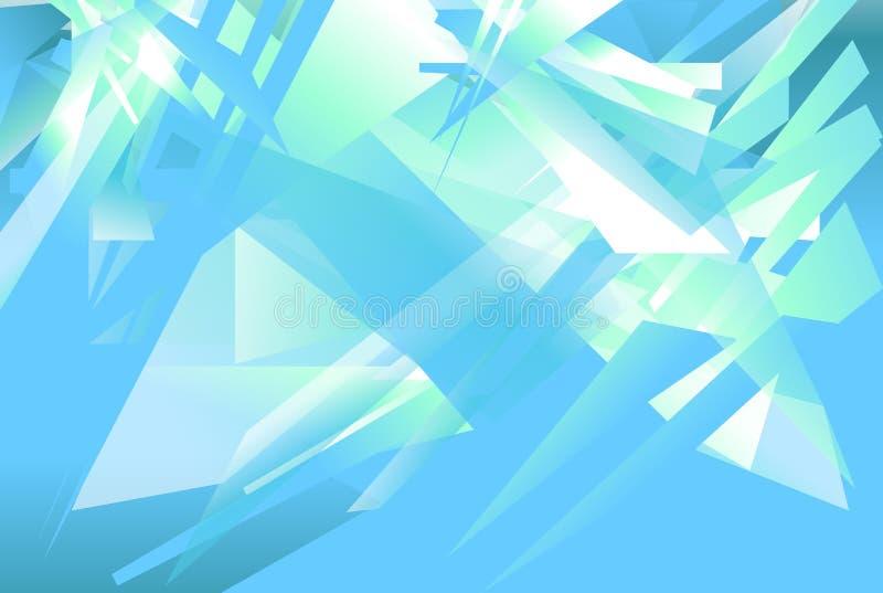 Fond futuriste avec des formes angulaires et énervées Geomet abstrait illustration libre de droits