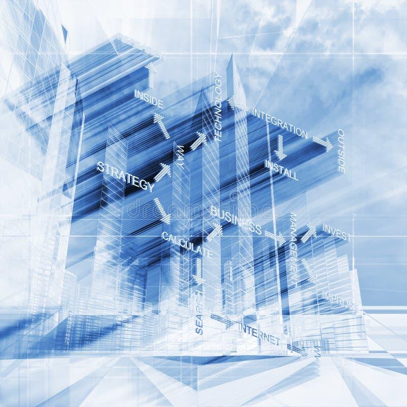 Fond futuriste bleu de concept de résumé illustration de vecteur
